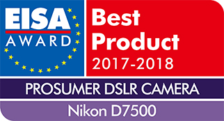 「D7500」が「EISA AWARD」の「EISA PROSUMER DSLR CAMERA 2017-2018」を受賞